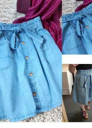 Стильная джинсовая юбка с карманами, yessica, p. 38-40