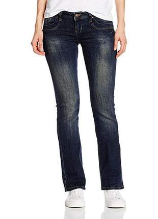 Брендовые женские темно-синие коттоновые джинсы ltb jeans denim bootcut турция этикетка