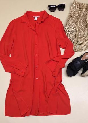 Рубашка платье из натуральной ткани
