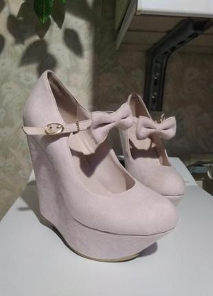 Бомбезные туфли pappilon нежно-розовые
