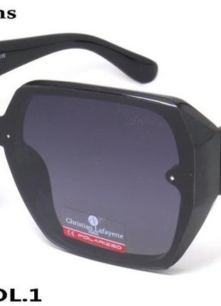 Красивые массивные женские солнцезащитные очки christian lafayette