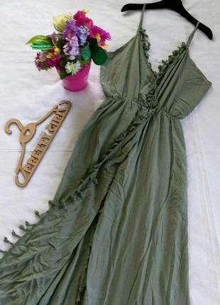 Летнее платье/сарафан с бахромой