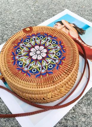Ротанговая сумка с росписью