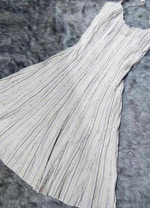 Платье сарафан на бретелях из льна и вискозы marks & spencer