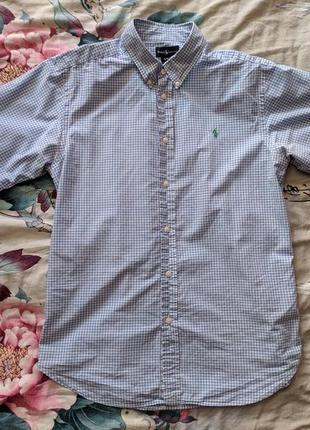 Клетчатая тенниска, рубашка, поло polo by ralph lauren | сорочка ральф