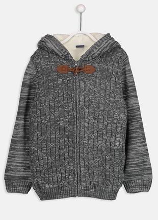 Теплая кофта lc waikiki для мальчика, рост 134-140 см, куртка