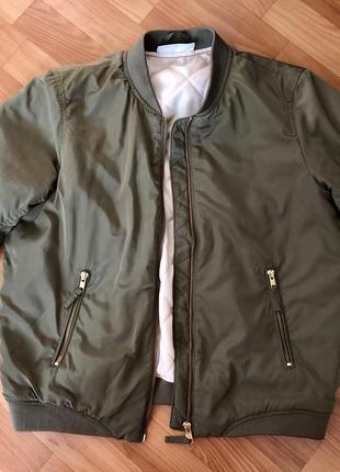 Демисезонная куртка бомбер noisy may