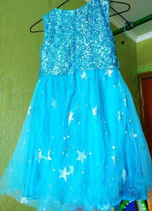 Красивое праздничное платье звёздочки на девочку 9-11 лет