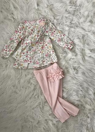 Платье и штанишки 1-2 года. комплект next англия 🏴