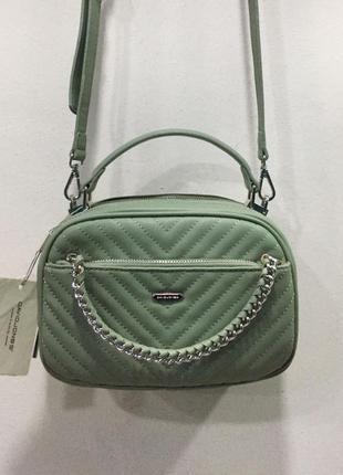 Зелёная маленькая сумка david jones