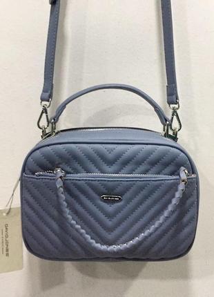 Голубая маленькая сумка david jones