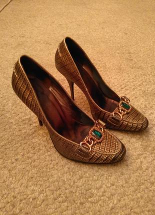 Туфли fabi с принтом рептилии