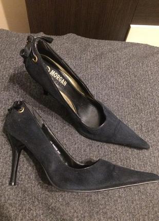 Morgan de toi замшевые туфли с острым носком