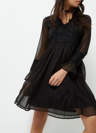 Платье чехол чёрное свободное оверсайз вечернее большое river island