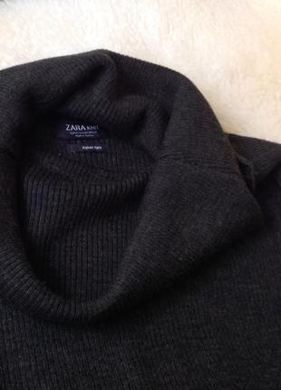 "Джемпер шерсть трикотаж ""рубчик"" бренду zara knit italian yarn merino"
