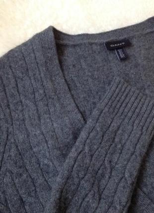 Джемпер кашемір люкс бренду gant 100% cashmere оригінал кашемир