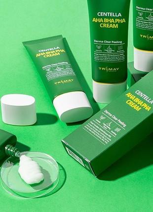 🌿 обновляющий крем с кислотами и центеллой trimay aha bha pha centella cream, 50 мл