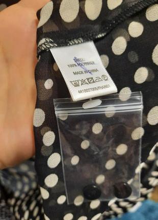 Актуальная блузка в горошек4 фото