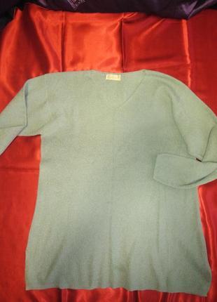 Мега свитерок цвета олива