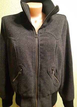 Кашемировый бомбер куртка