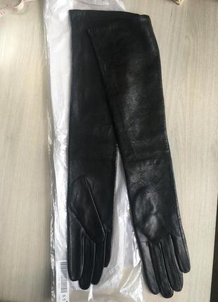 Перчатки из нежнейшей перфорированной кожи