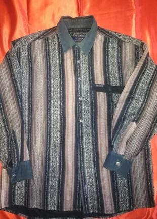 Тёплая рубашка 43-44 size xl