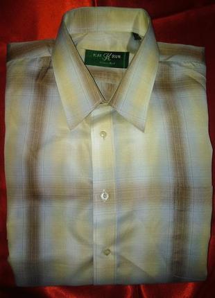 Нежная рубашка длинный рукав ворот 43 на рост 186