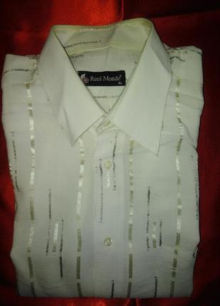 Нарядная рубашка  reel monde xl  короткий рукав.