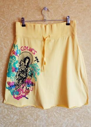 🎀яркая летняя юбка до колена/colin's юбка на широкой резинке/самые низкие цены🙀
