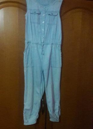 Cтильный джинсовый комбинезон
