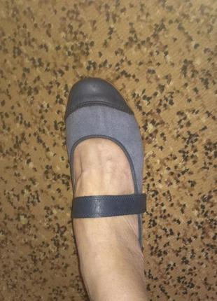 Фирменные туфли-балетки мокасины rieker германия р.39 # розвантажуюсь