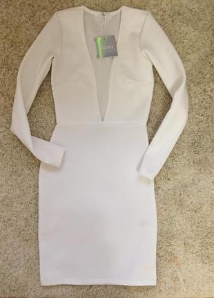 Белое платье missguided с декольте