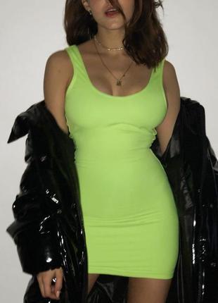 Фактурное яркое платье