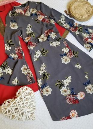 🌸 стильное платье халат в цветы cameo rose