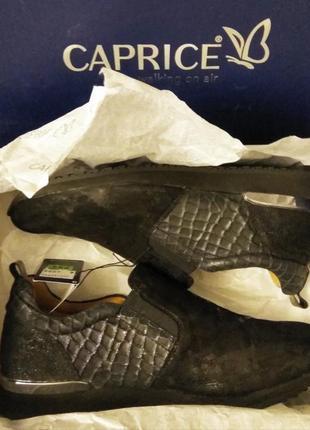 Слипоны натуральная кожа caprice, серия комфорт onair