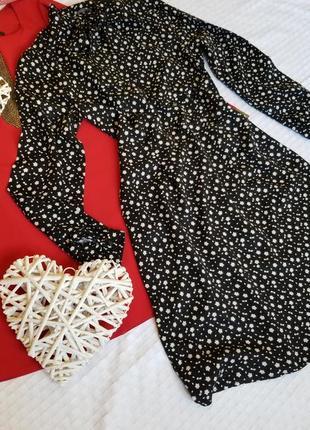❤ стильное платье миди в цветы с бантом на шее george винтажное платье