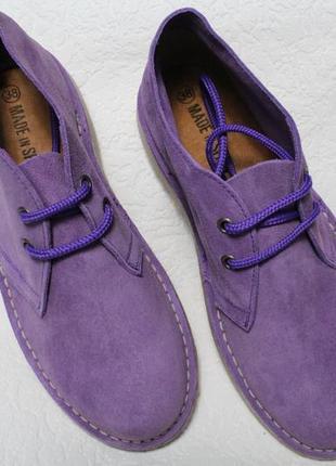 Замшевые дезерты, ботинки . испания все размеры