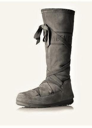 Оригинал! moon boot tecnica замшевые сапоги на мембране/ботфорты/снегоходы/луноходы.