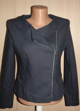Льняной жакет пиджак куртка h&m p.36(6)