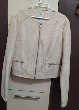 Женская куртка кожанка размер l7 фото