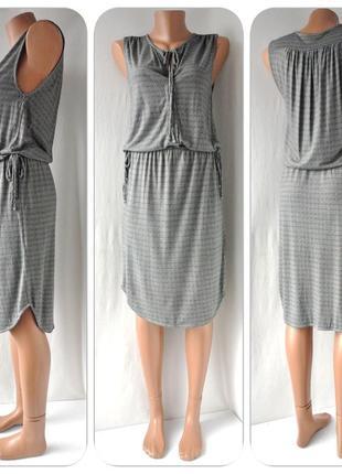 Стильное брендовое летнее вискозное платье h&m. размер s.