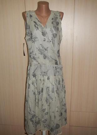 Шикарное шелковое платье zara p.xl