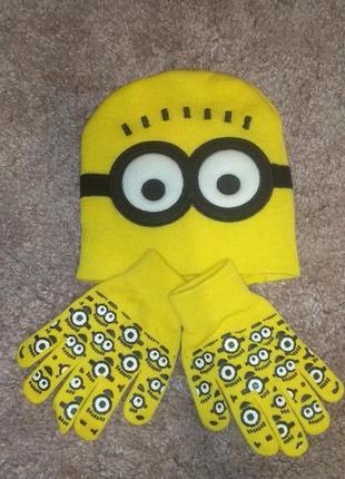 Комплект шапка + перчатки