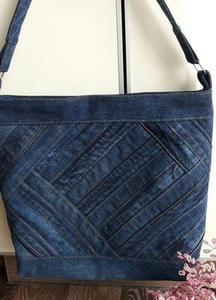 Джинсовая сумочка ручной работы