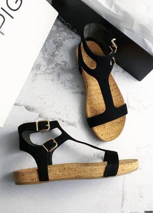 Via spiga оригинал замшевые черные сандалии