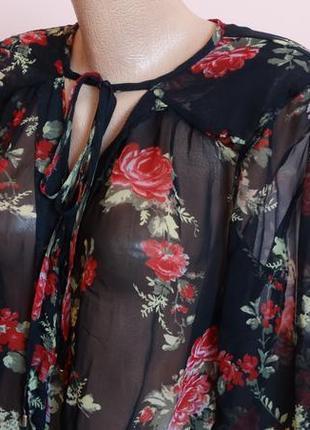 Красивая  индийская блуза в цветы vеro moda