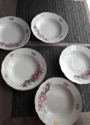 Набор тарелок с розами ссср