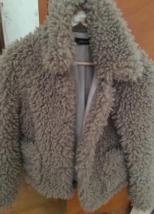Куртка плюшевая zara
