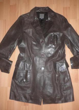 Класний  плащ піджак   marc aurel  градієнт кольору натур. шкіра(