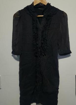 Sale 🔥легное очень красивое черное платье с жабо 🖤antonio lucci london 🖤